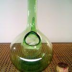 Paire de petit vase en faience asiatique
