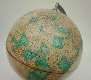 Globe terrestre vintage Replogle Globes